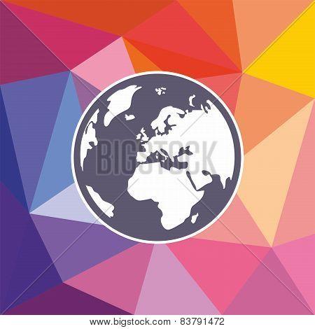 Hand drawn earth. World globe vector illustration