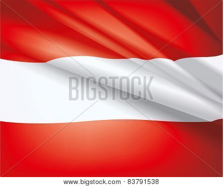 Flag Of Austria, Vector Background