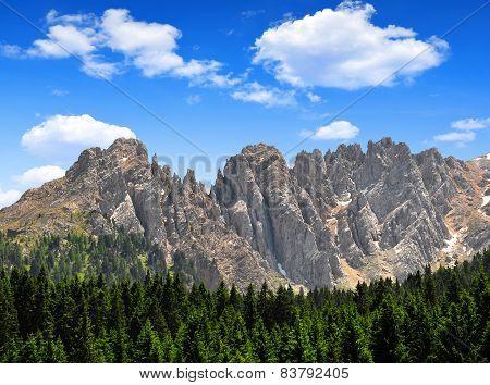 Mt Latemar in Dolomites