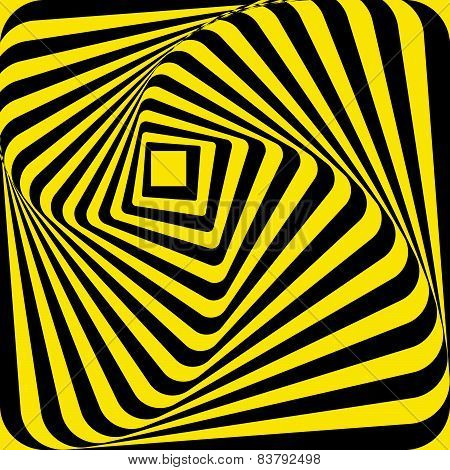 Abstract Yellow Black Rectangle