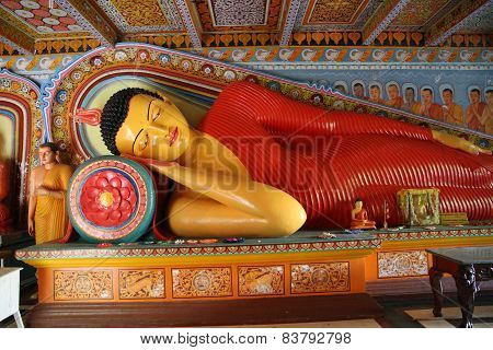 Buddha Statue In The Isurumuniya Temple, Srli Lanka