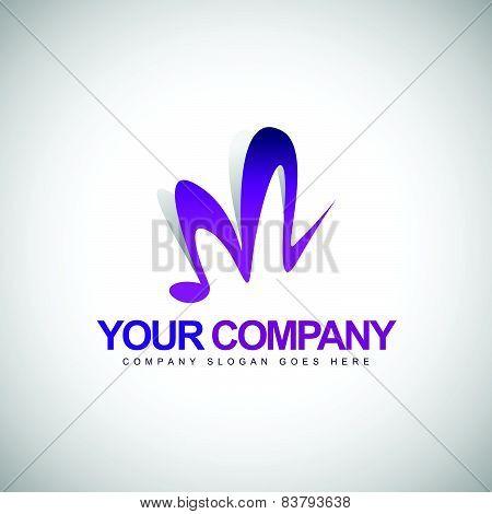 Music Logo Letter M