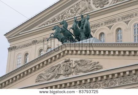 Sculptures And Decorations Of The Bolshoi Theatre