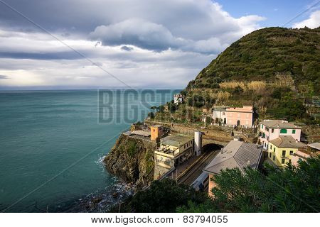 View Of Riomaggiore Station