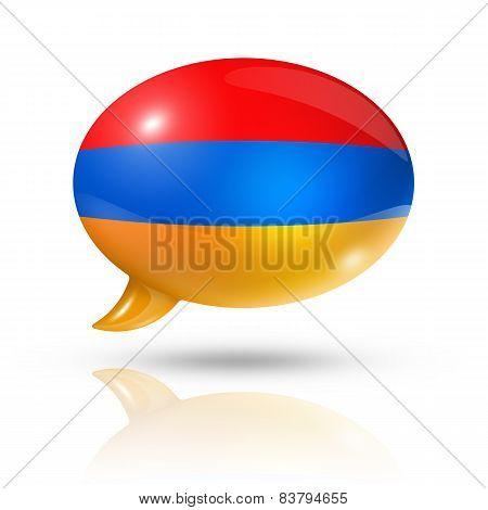 Armenian Flag Speech Bubble