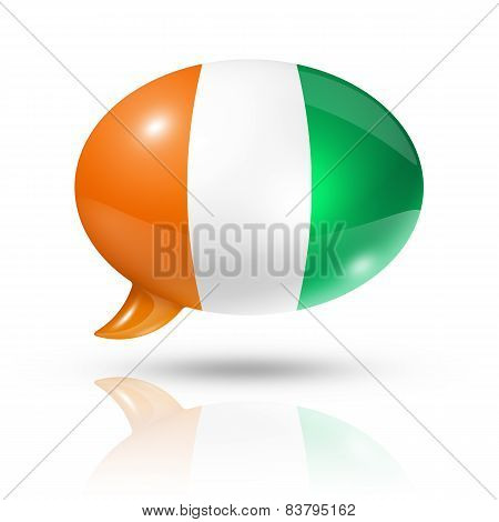 Ivorian Flag Speech Bubble