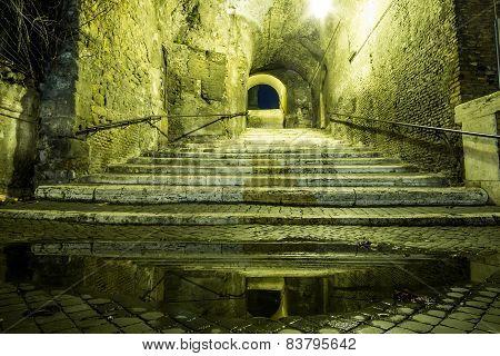 Street Tunnel In Rome