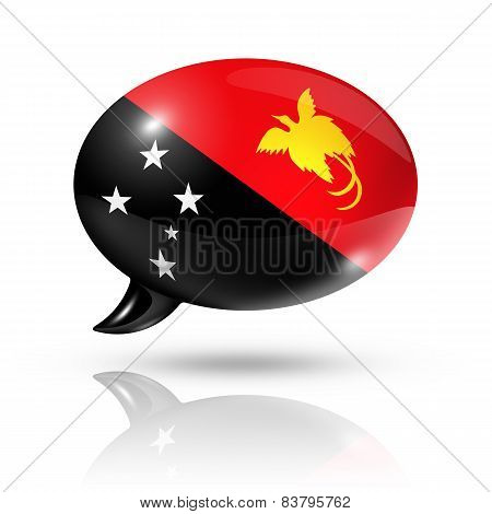 Papua New Guinea Flag Speech Bubble