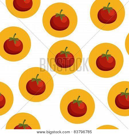 Seamless background with tomatos