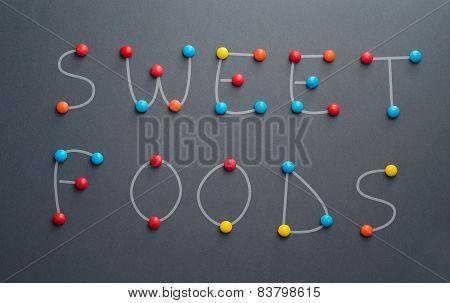 Sweet Foods Doodle Concept