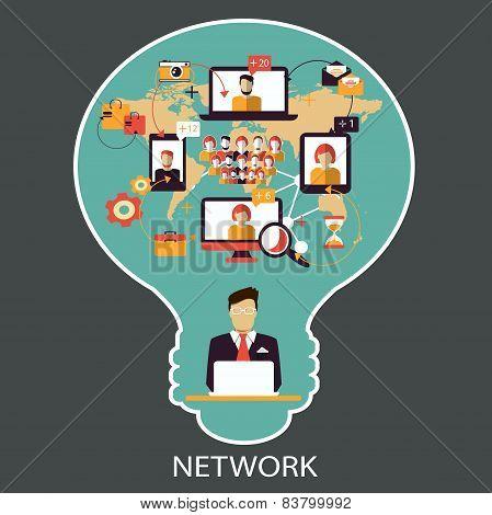 Communication. Social network.