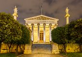picture of socrates  - The main building of the Academy of Athens Greece - JPG