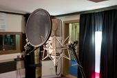 pic of microphone  - a professional microphone in a recording studio - JPG