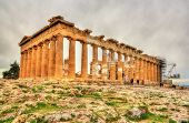 picture of parthenon  - View of the Parthenon in Athens  - JPG
