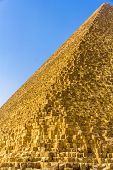 picture of the great pyramids  - Edge of the Great Pyramid of Giza  - JPG