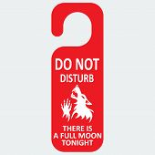 pic of wolf moon  - Vector do not disturb - JPG
