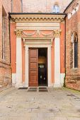 image of vicenza  - The decorated entrance of the Duomo  - JPG