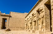 stock photo of ramses  - Inside the Mortuary Temple of Ramses III near Luxor  - JPG