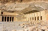 picture of hatshepsut  - Mortuary temple of Hatshepsut in Deir el - JPG