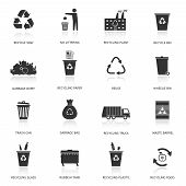 stock photo of tank truck  - Recycling and garbage icons set - JPG