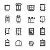 pic of windows doors  - Vintage windows set - JPG