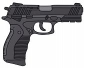 image of handguns  - Hand drawing of a handgun  - JPG