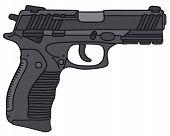 stock photo of handgun  - Hand drawing of a handgun  - JPG