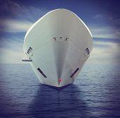 Постер, плакат: Big cruise ship
