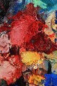 image of paint palette  - macro artist - JPG