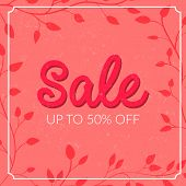stock photo of 50s  - Retro sale poster with grunge texture - JPG