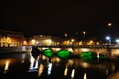 picture of skyway bridge  - The Grattan Bridge over the River Liffey in Dublin - JPG