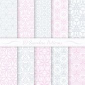 picture of pattern  - Set of ten seamless modern patterns - JPG