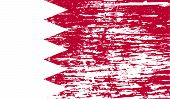 picture of bahrain  - Flag of Bahrain with old texture - JPG