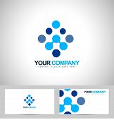 picture of dots  - Blue dots logo vector - JPG