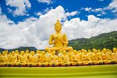 pic of buddha  - Buddha at Buddha Memorial park Nakorn nayok Thailand - JPG
