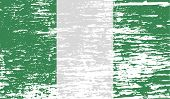 picture of nigeria  - Flag of Nigeria with old texture - JPG