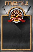 Постер, плакат: Blackboard For Pizza Menu