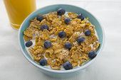 image of cereal bowl  - A bowl of breakfast cereal - JPG