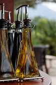 foto of vinegar  - set of bottles of oil and vinegar - JPG