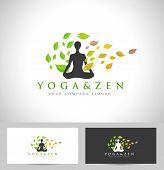 stock photo of yoga  - Yoga Logo Design - JPG