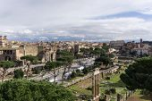 foto of emanuele  - Panorama view of Rome from rooftop of Victor Emanuele II Monument - JPG