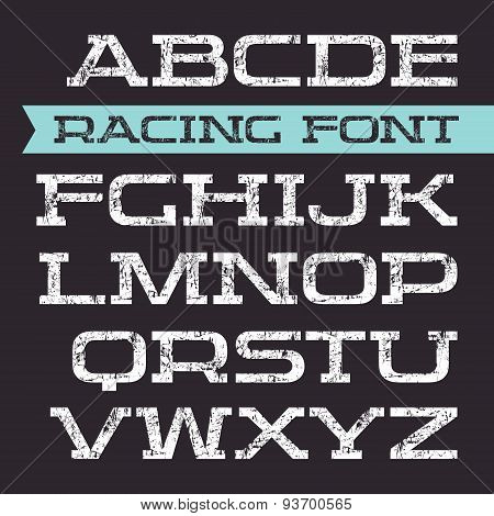 Serif Font In Retro Racing Style