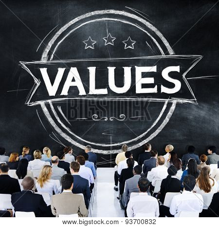 Values Goodness Worth Promotion Quality Concept
