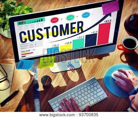 Customer Client Consumer Satisfaction Service Loyalty Concept