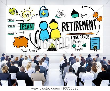 Business People Employee Retirement Presentation Seminar Concept