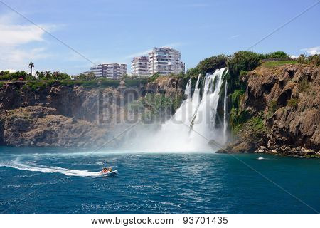 Duden waterfall (Karpuzkaldiran) in Antalya, Turkey