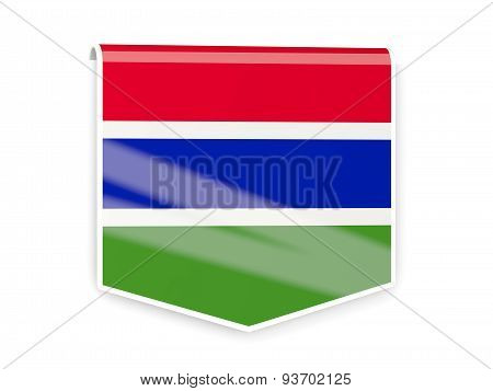 Flag Label Of Gambia