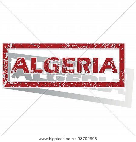 Algeria outlined stamp