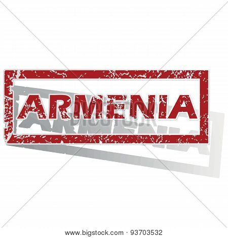 Armenia outlined stamp