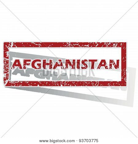 Afghanistan outlined stamp
